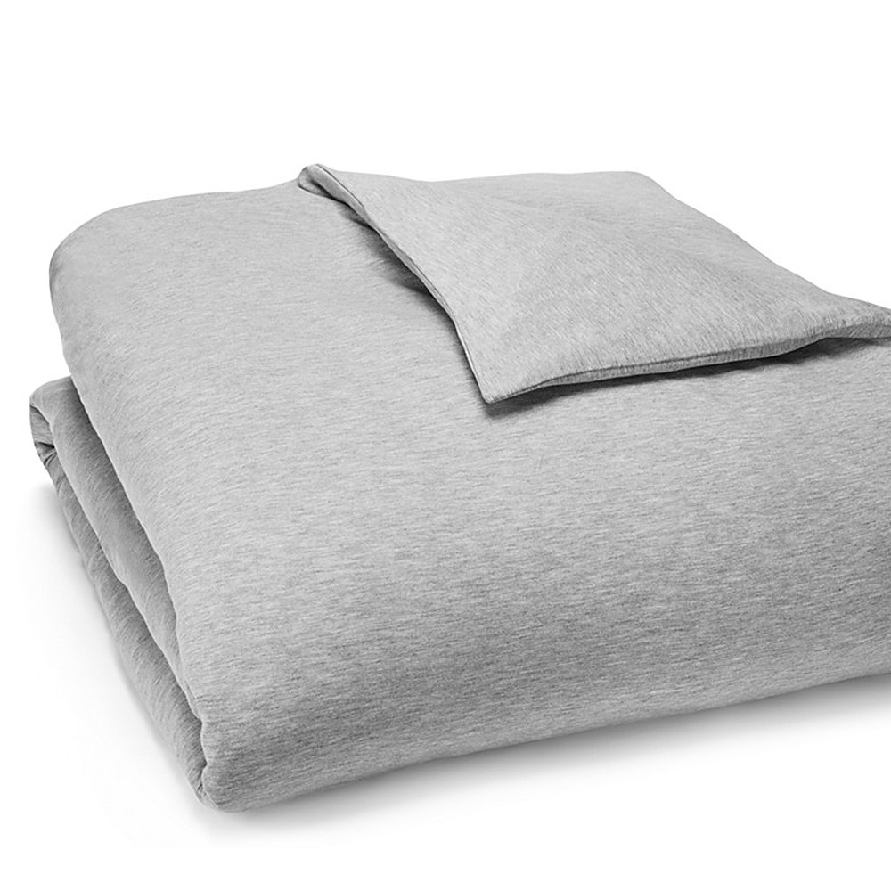 Calvin Klein Duvet Cover Grey 140x200 Modern Cotton Jersey Body