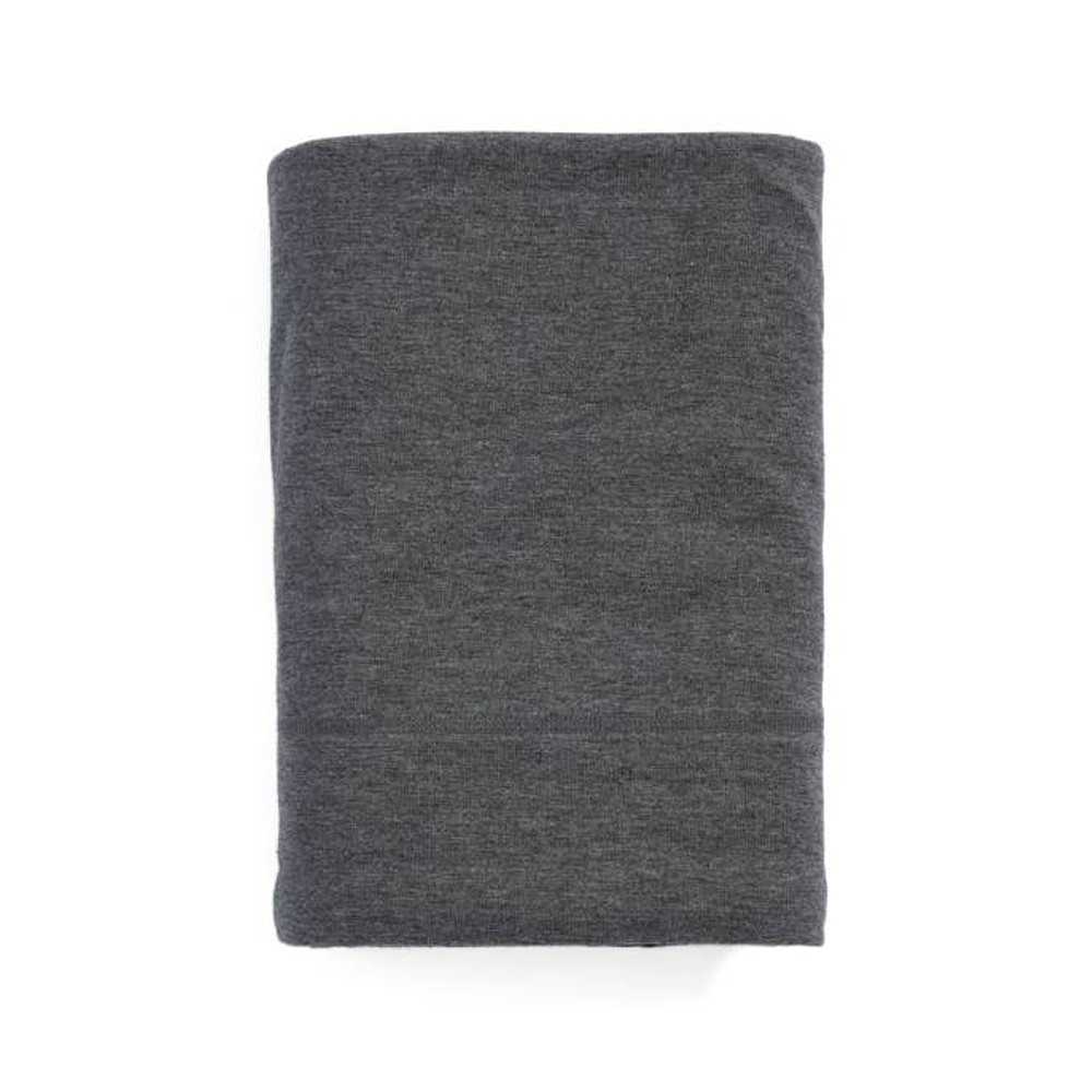 Calvin Klein Flat Sheet Charcoal 180x290 Modern Cotton Jersey Body