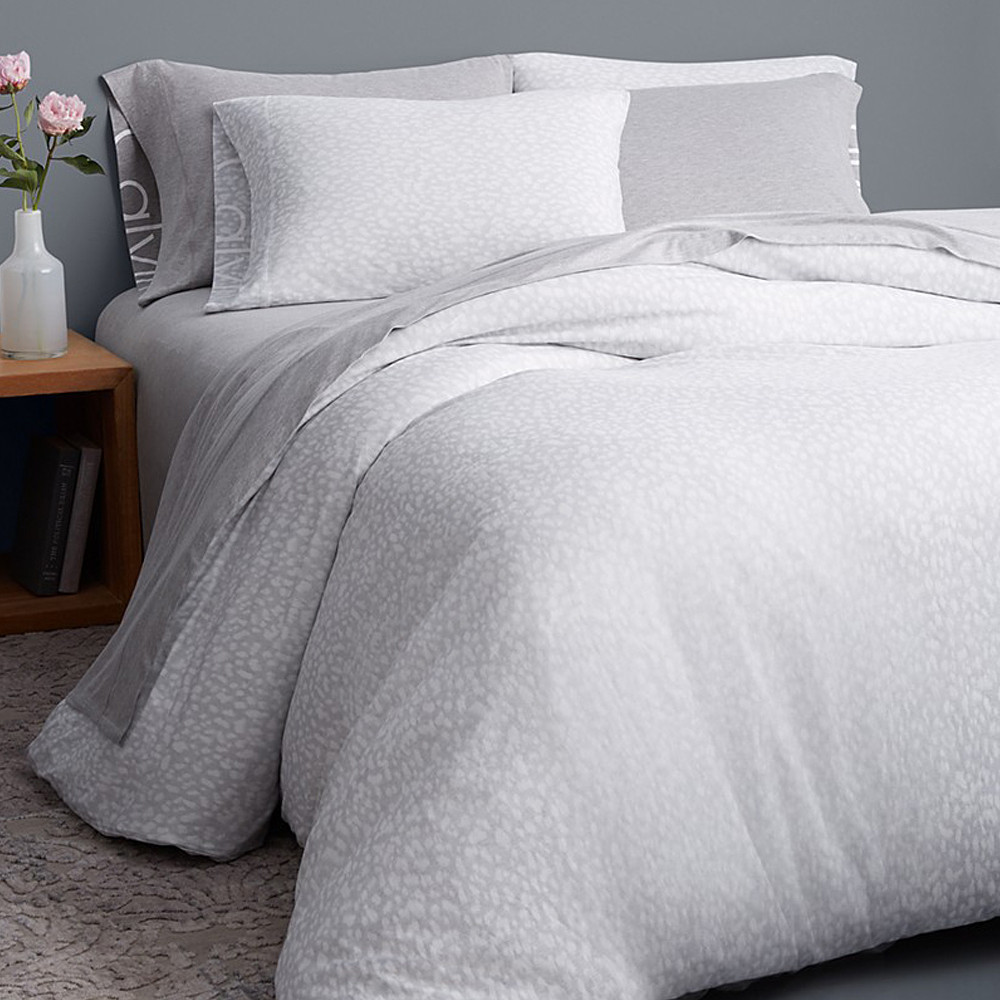 Calvin Klein Duvet Cover Grey 140x200 Modern Cotton Jersey Primal