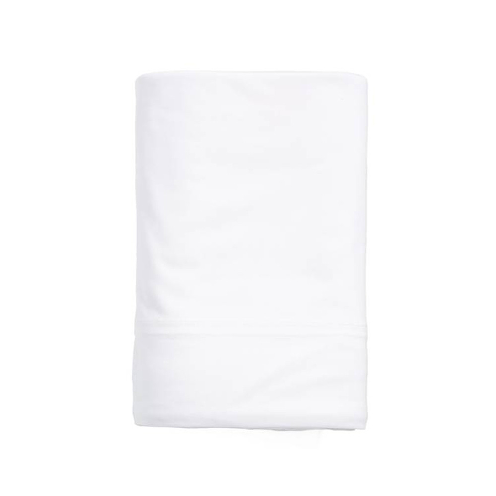 Calvin Klein Fitted Sheet White 180x200 Modern Cotton Jersey Body