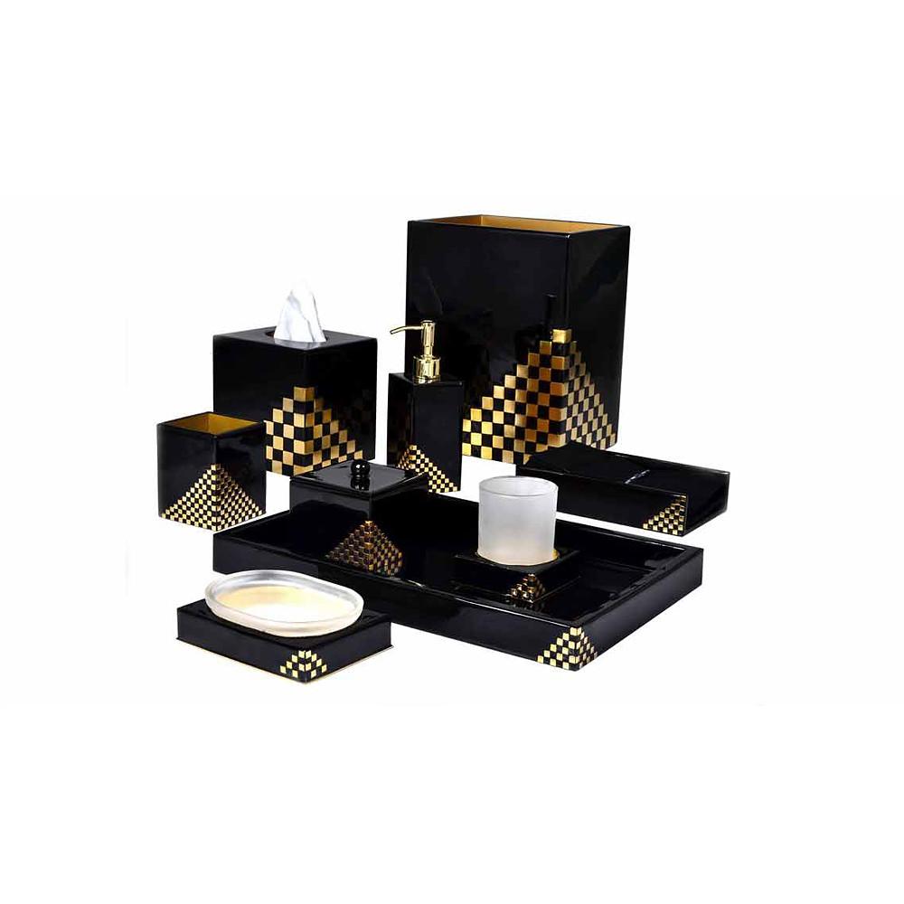 Mike & Ally Matrix Tissue Holder Black/Gold
