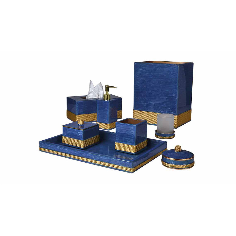 Mike & Ally Admiral Tray w/Mirror French Blue