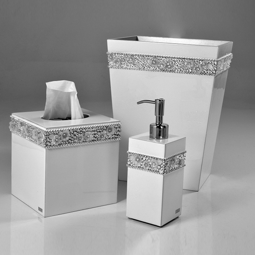 Mike & Ally Chantilly Toothbrush Holder Pure/Silver