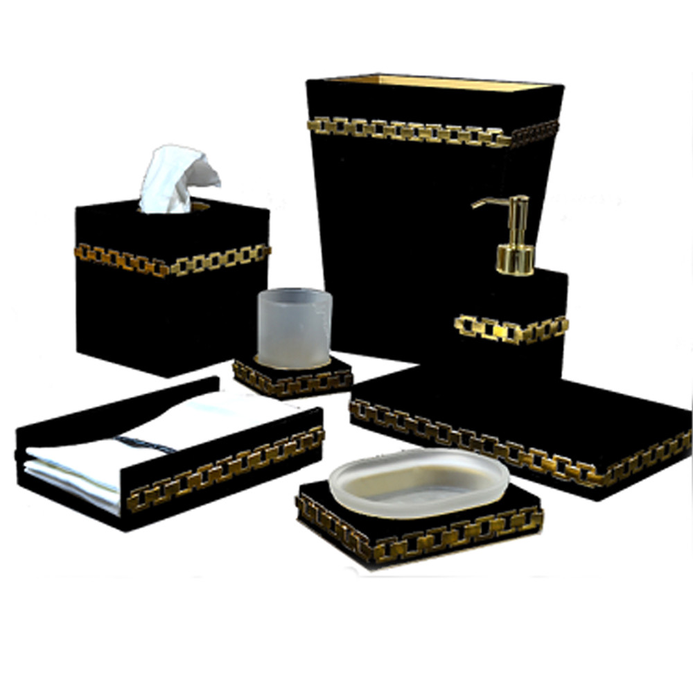 Mike & Ally Carlyle Toothbrush Holder Black/Gold