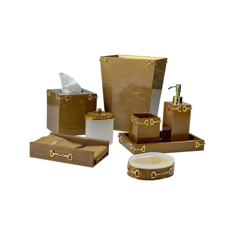 Mike & Ally Hampton Tissue Box Cocoa Gold