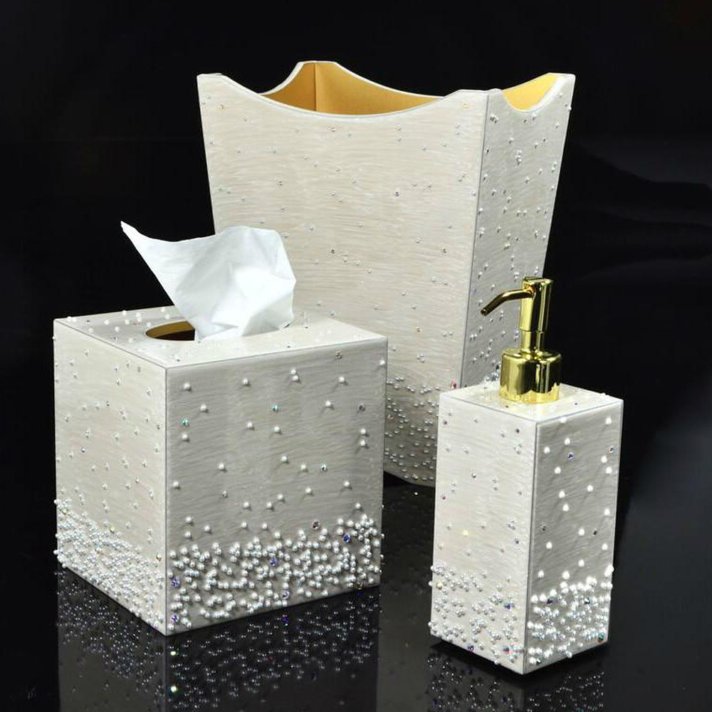 Mike & Ally Caviar Tissue Box Moonglow Gold