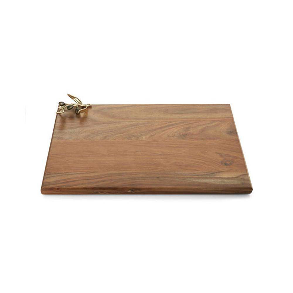 Oversized Olive Branch Wood Serving Board