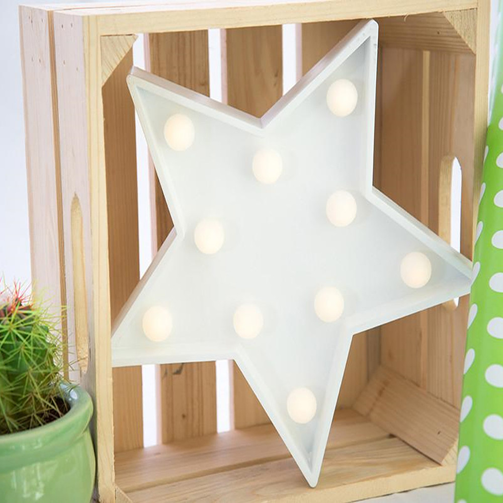 Lights & Letters Marquee Symbol White Star