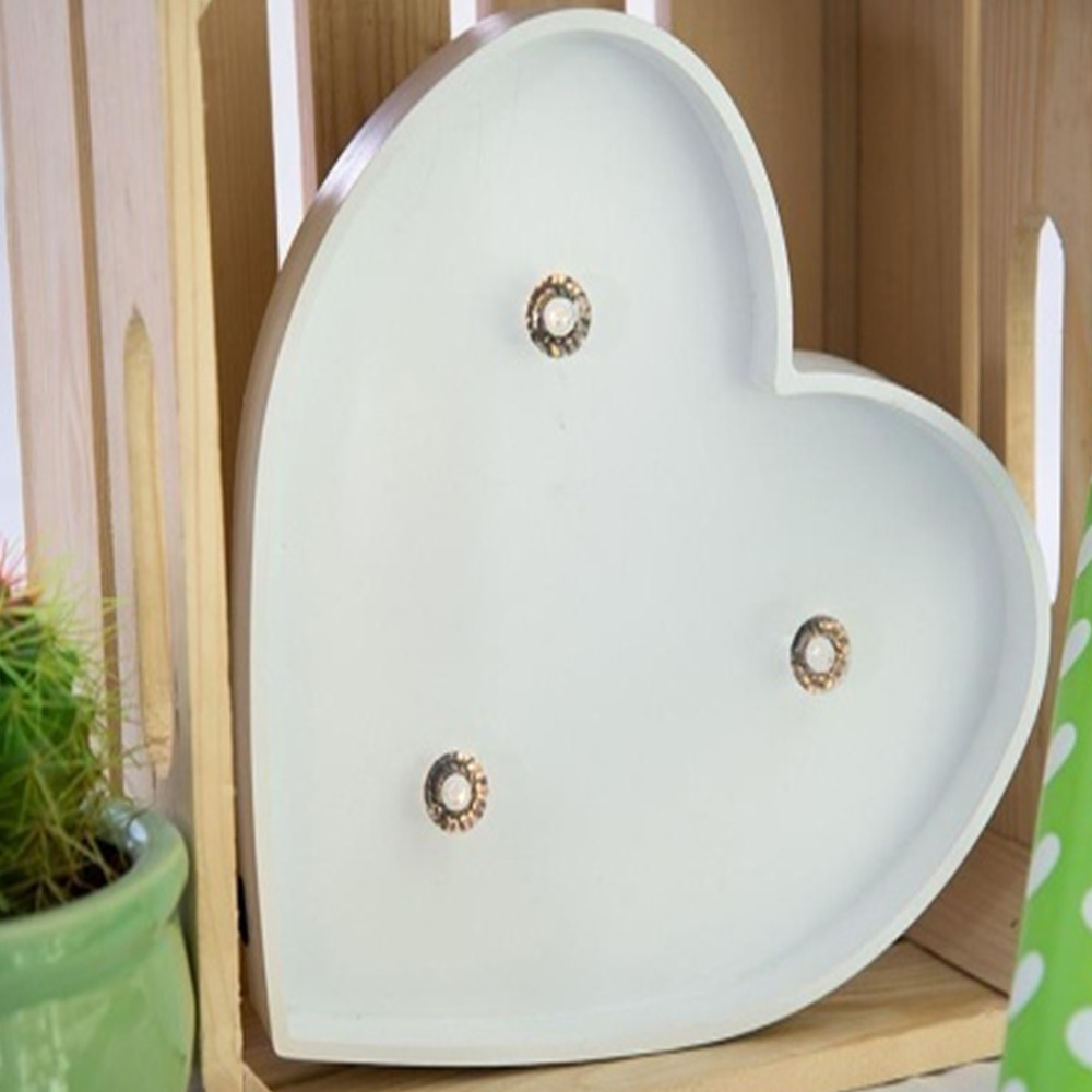 Lights & Letters Marquee Symbol White Heart