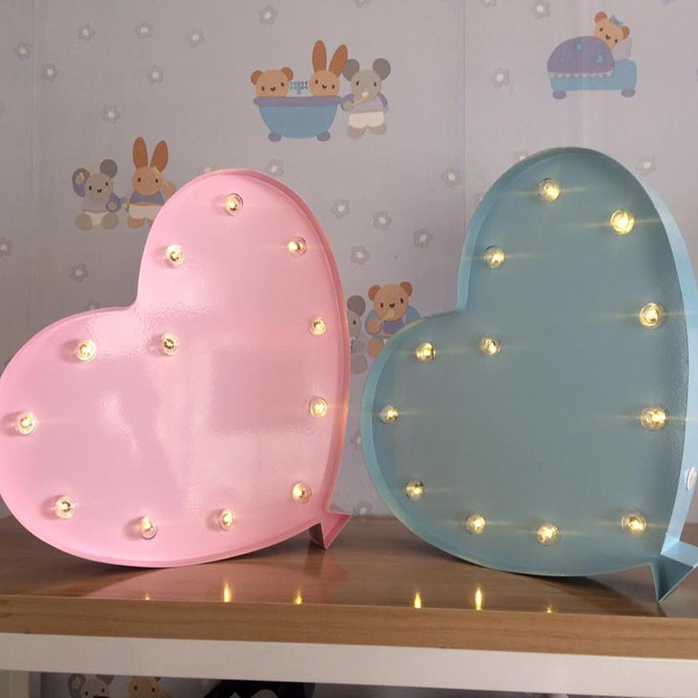 Lights & Letters Marquee Symbol Colored Heart