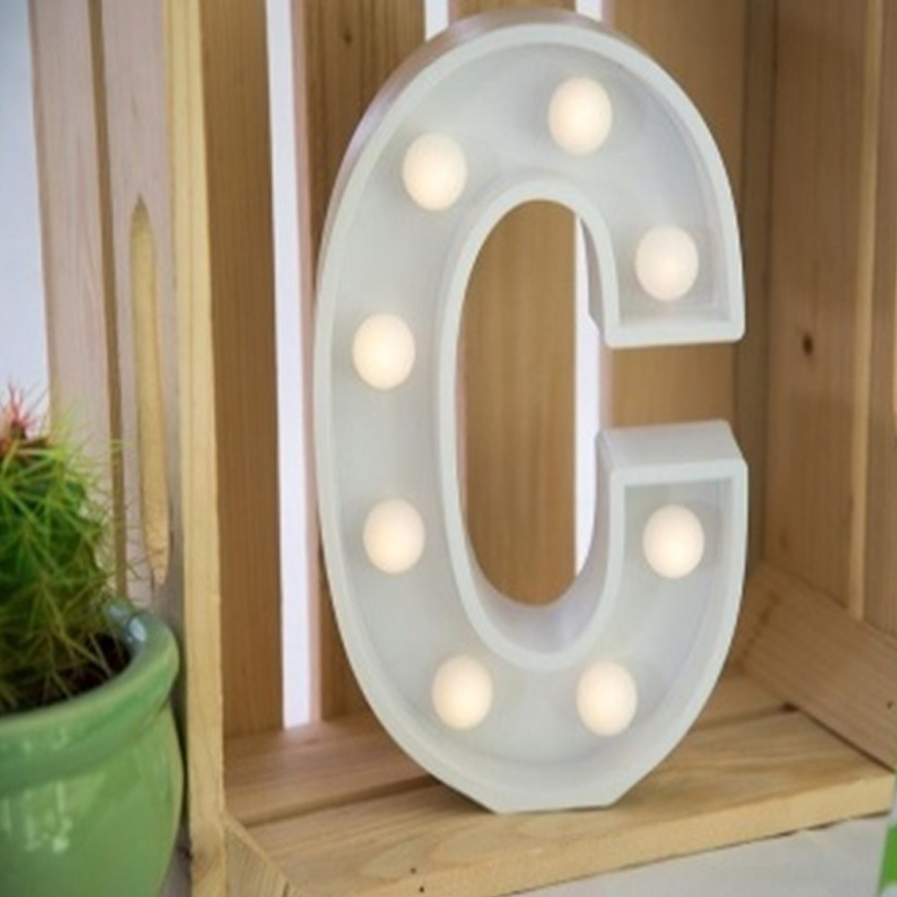Lights & Letters Marquee Letter White C
