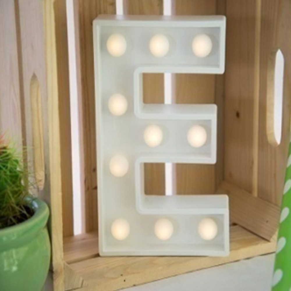 Lights & Letters Marquee Letter White E