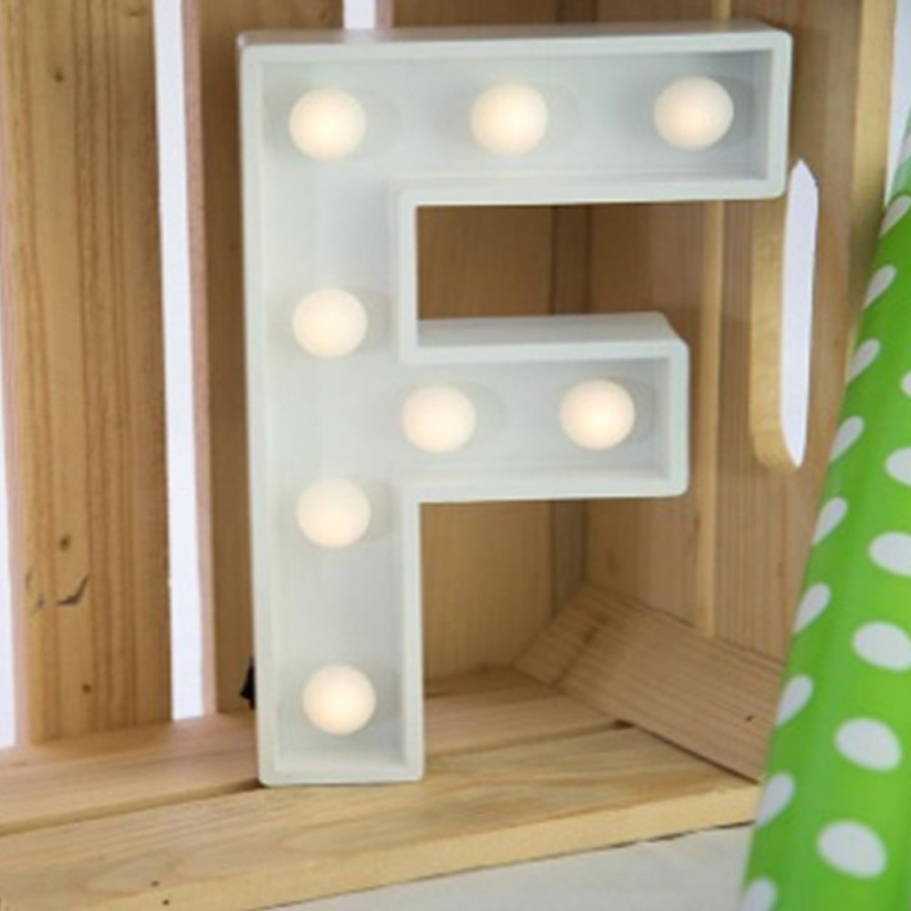 Lights & Letters Marquee Letter White F