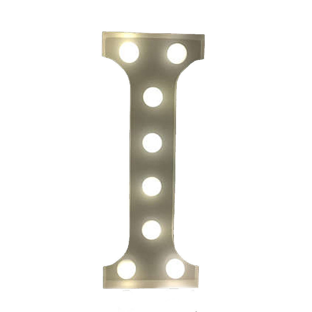 Lights & Letters Marquee Letter White I