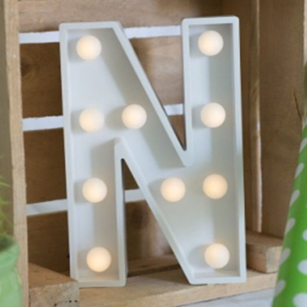 Lights & Letters Marquee Letter White N