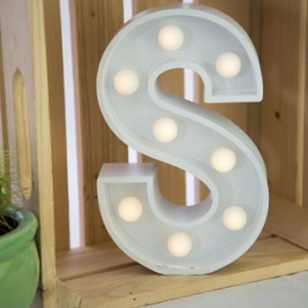 Lights & Letters Marquee Letter White S