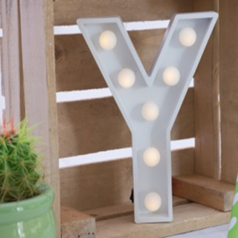 Lights & Letters Marquee Letter White Y