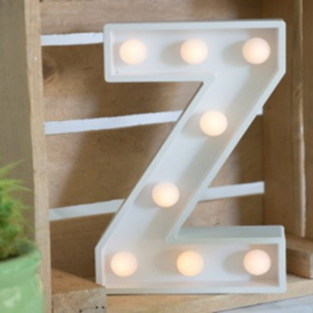 Lights & Letters Marquee Letter White Z