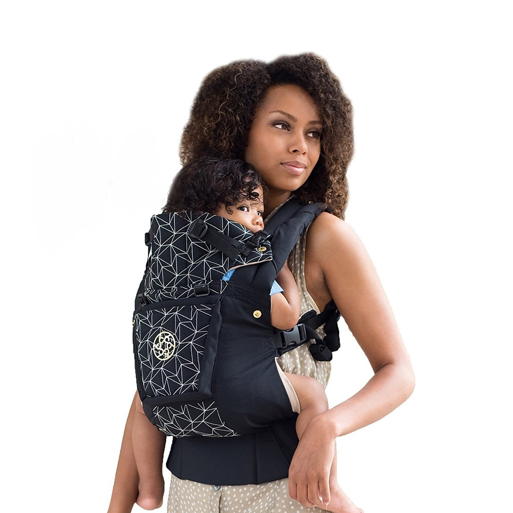 LILLEbaby Embossed Baby Carrier Black Diamond