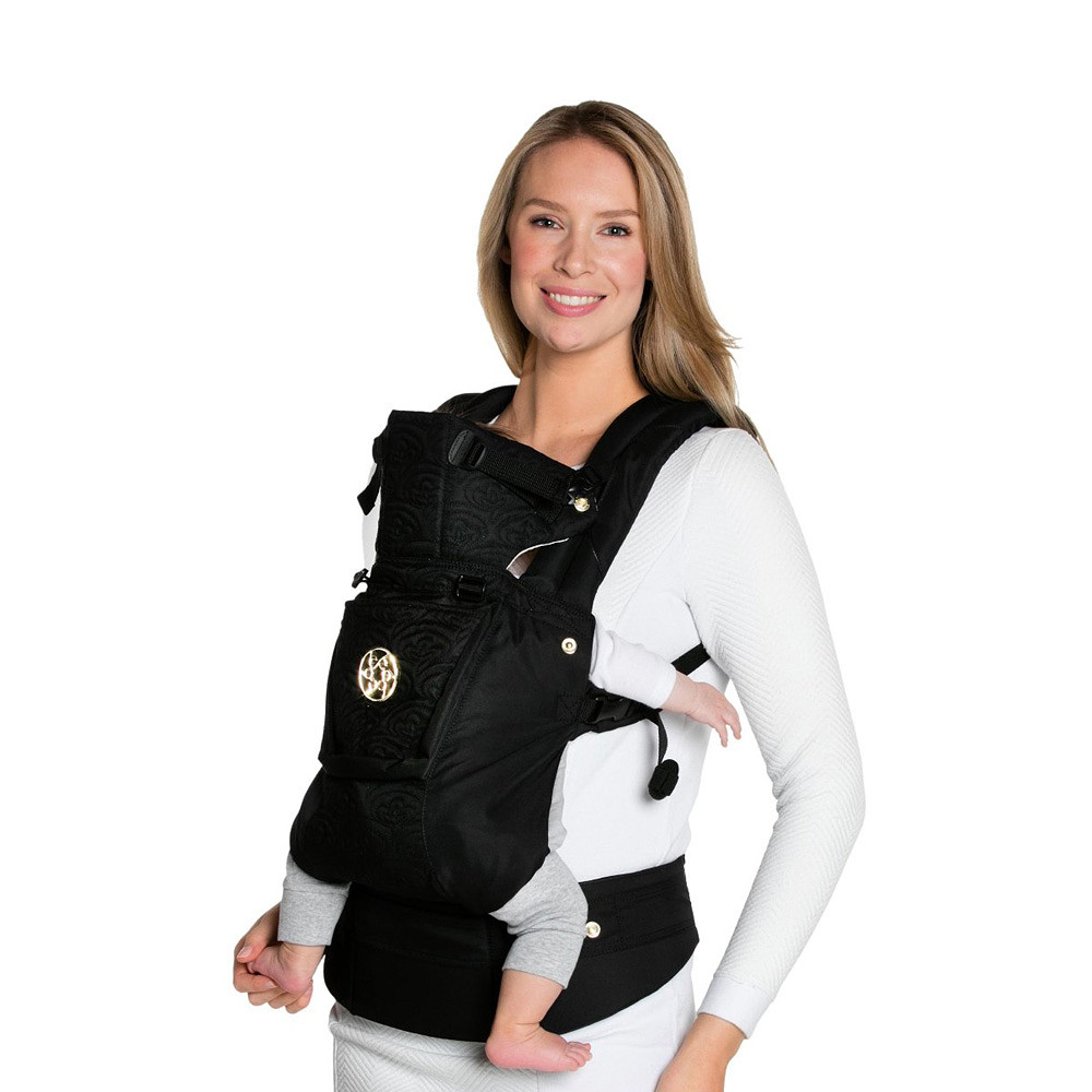 LILLEbaby Embossed Luxe Baby Carrier Noir