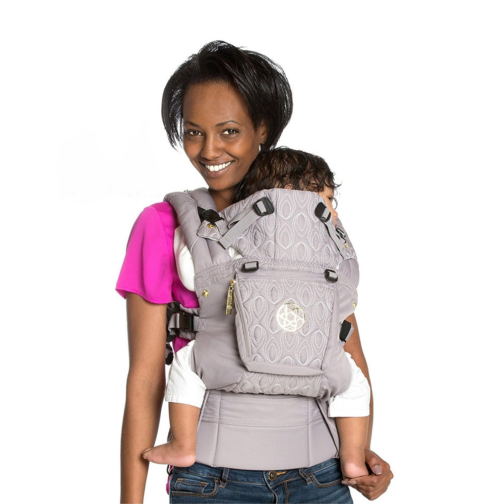 LILLEbaby Embossed Luxe Baby Carrier Pewter Grey