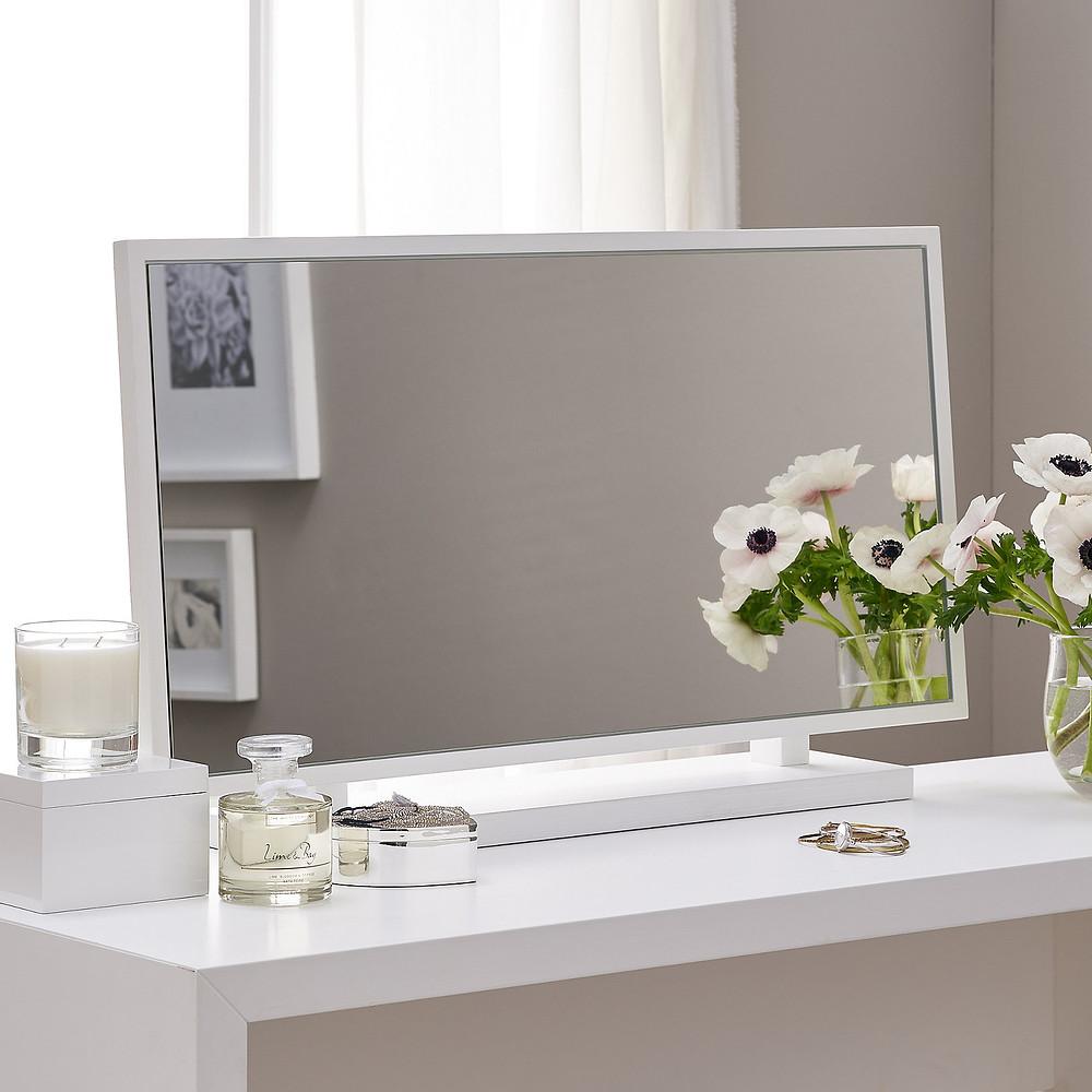 The White Company Pimlico Dressing Table Mirror -White