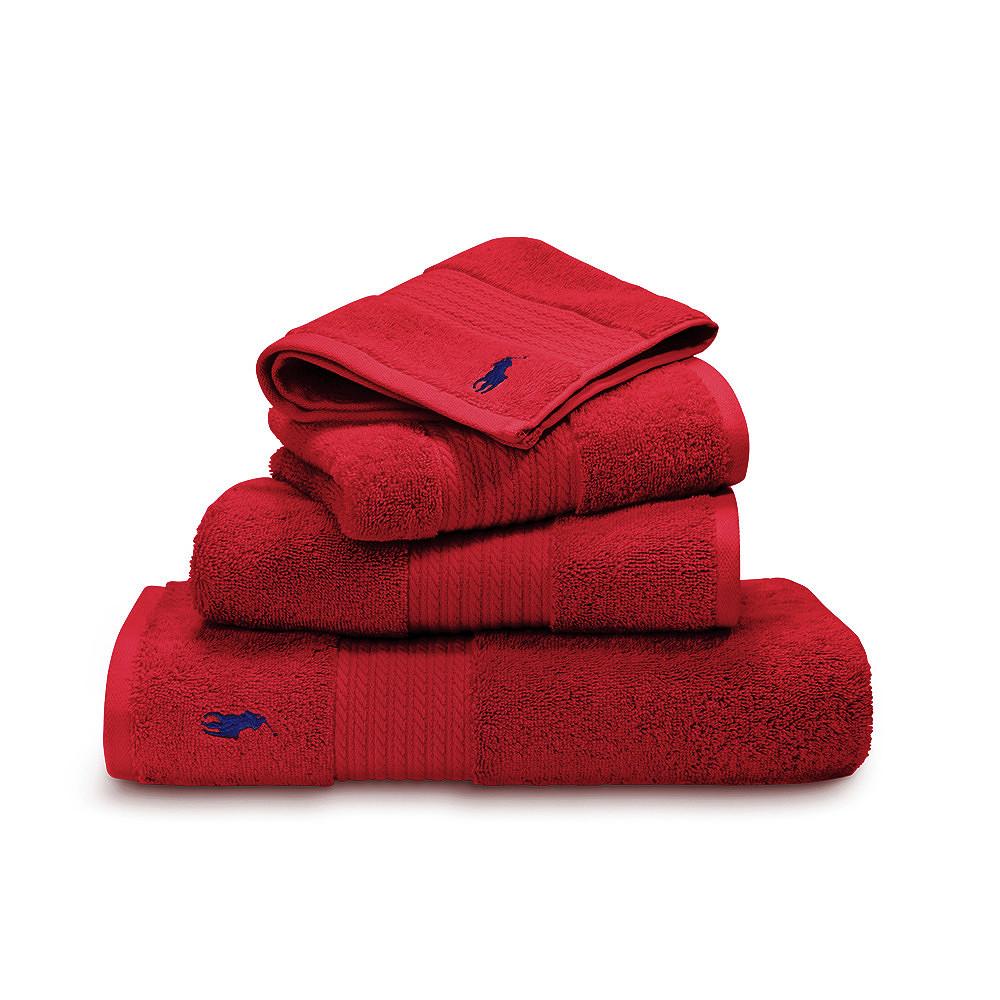 Ralph Lauren Face Towel Red