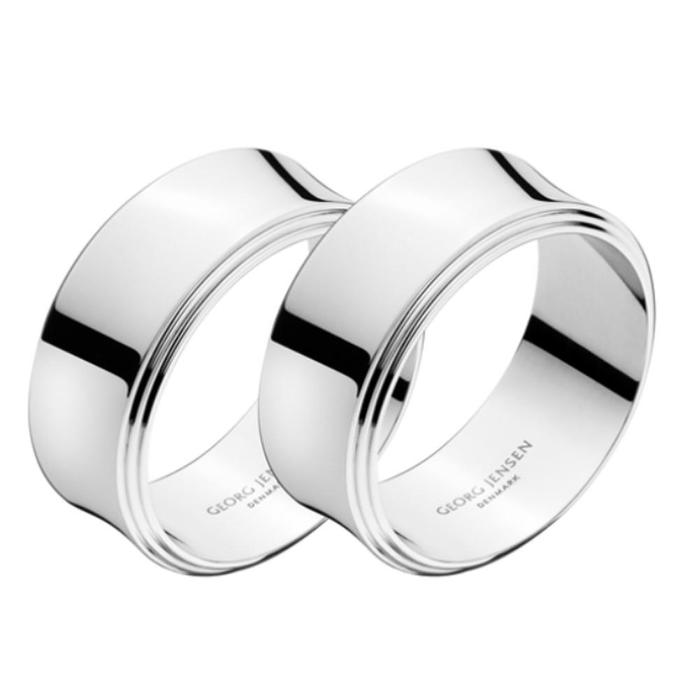 Georg Jensen Pyramid Napkin Ring Stainless Steel Mirror 2 Pcs