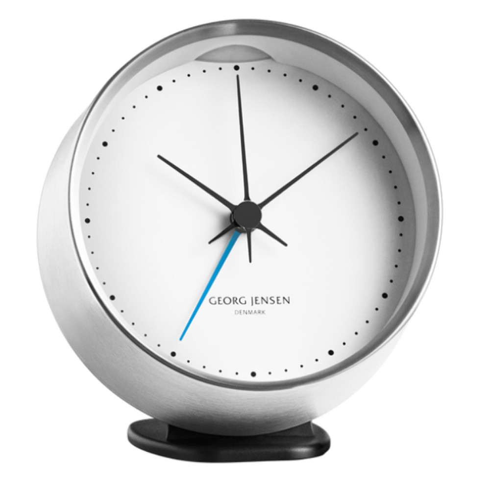 Georg Jensen Alarm w/ Holder Steel&White 10cm