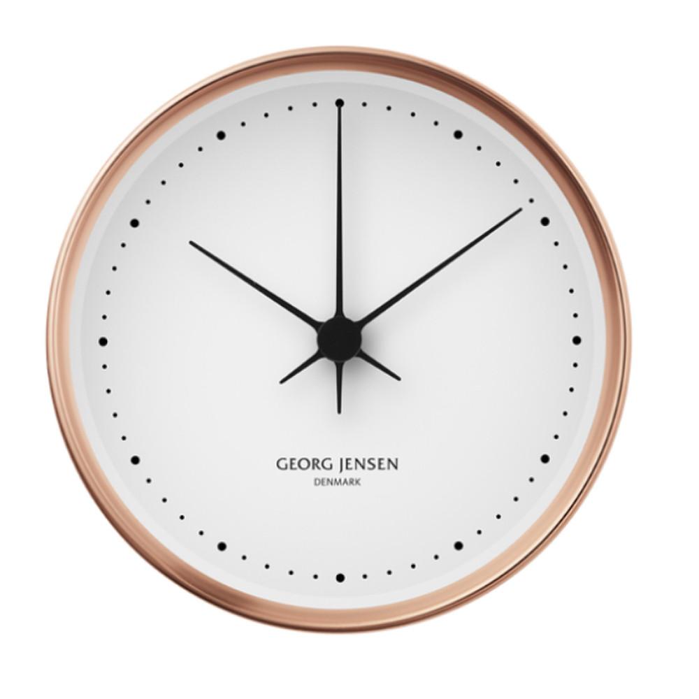 Georg Jensen Koppel Wall Clock White Copper 10cm