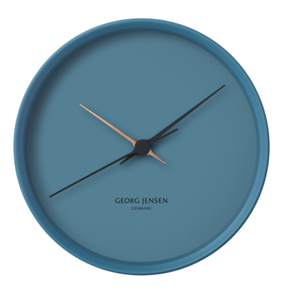 Georg Jensen Koppel Wall Clock Stainless Steel With White Dial 30cm