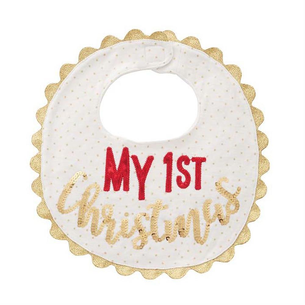 Mud Pie My 1st Christmas Bib