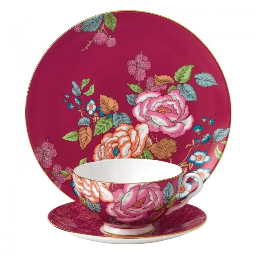 Wedgwood Tea Garden 3pcs Set Raspberry