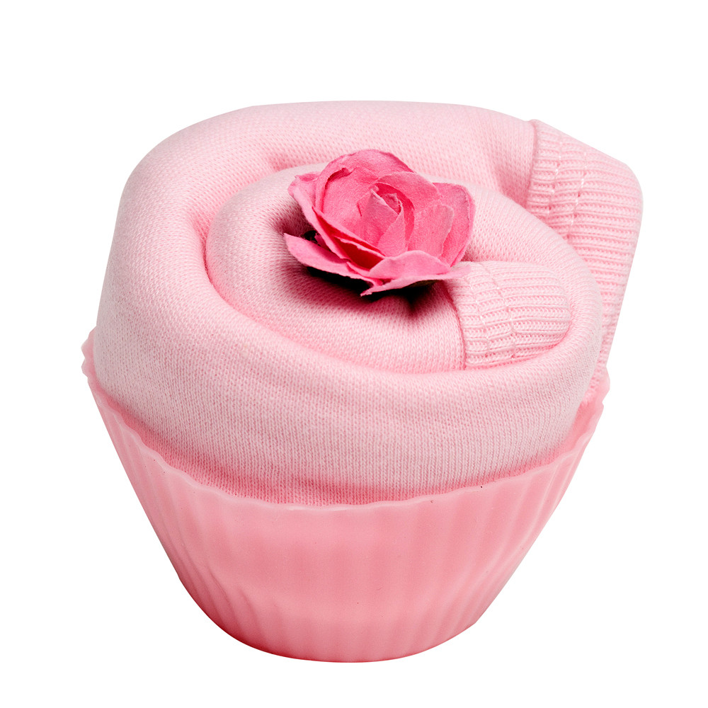 The Flower Stork Fairy Cake Sock Pink