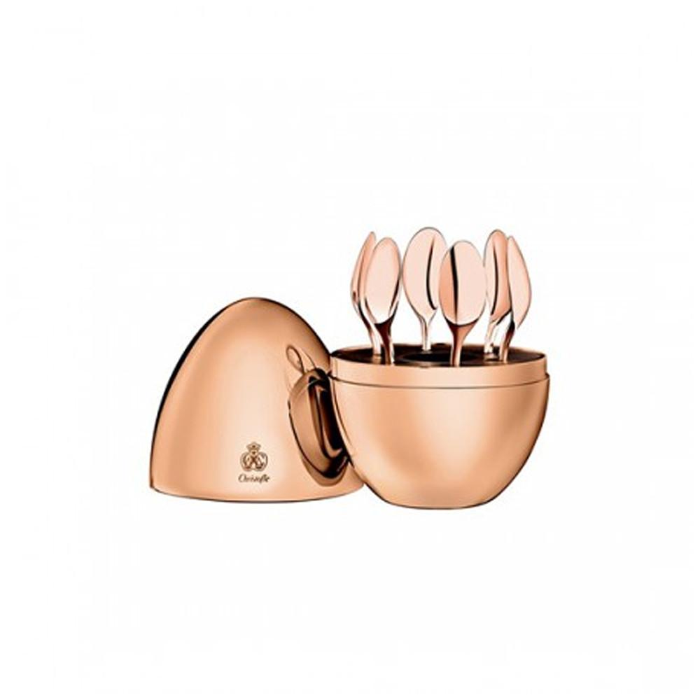 Christofle Mood Coffee Precious Espresso Spoons 6pc set