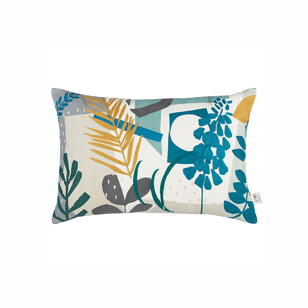 John Lewis Astrid Cushion Spruce/Mustard