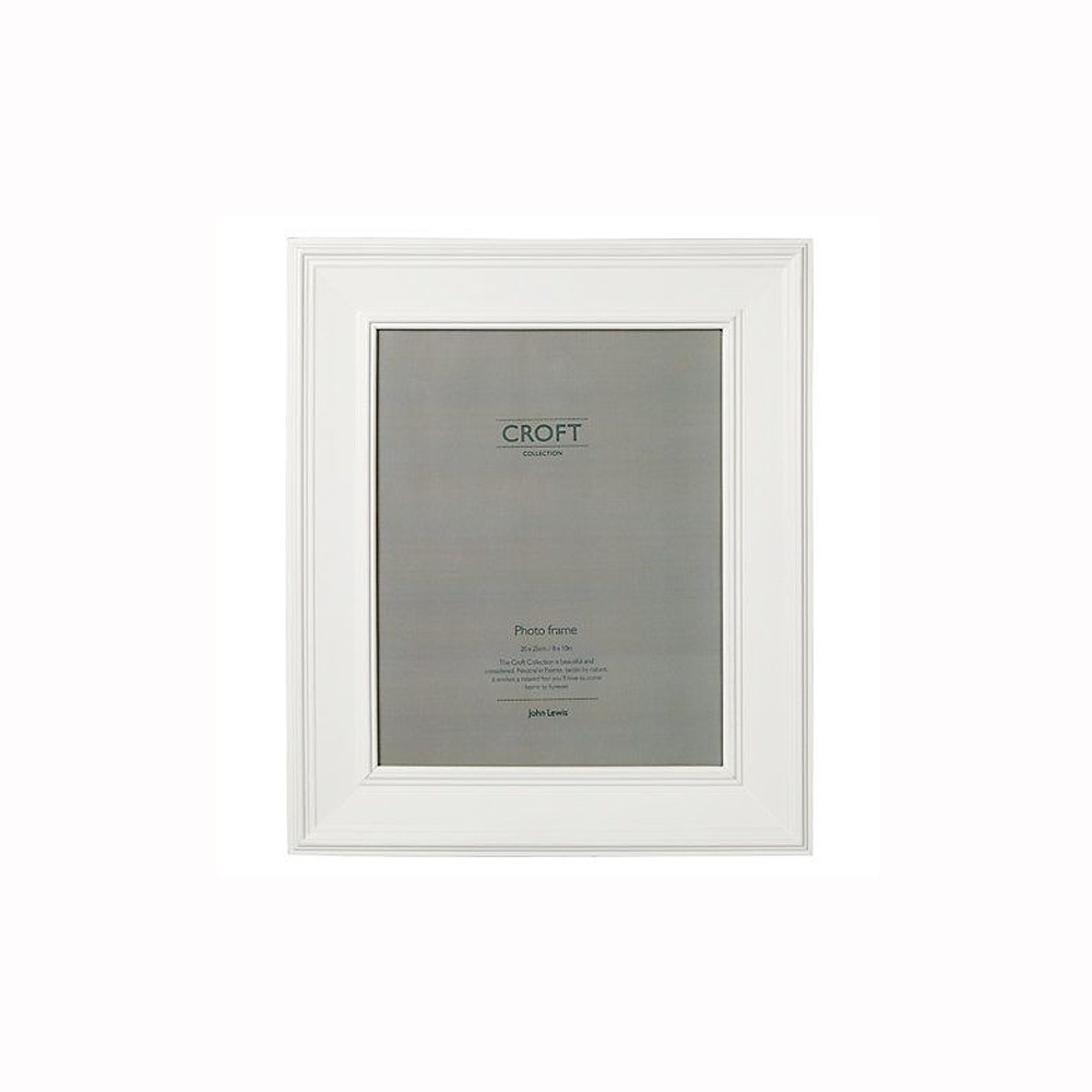 John Lewis Croft Photo Frame White 20x25cm