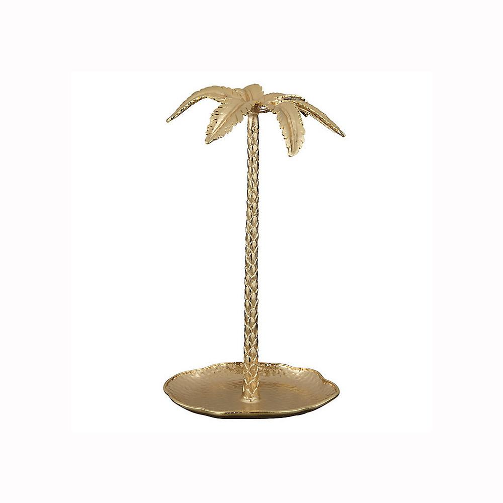 John Lewis Hotel Palm Tree Jewellery Stand Gold
