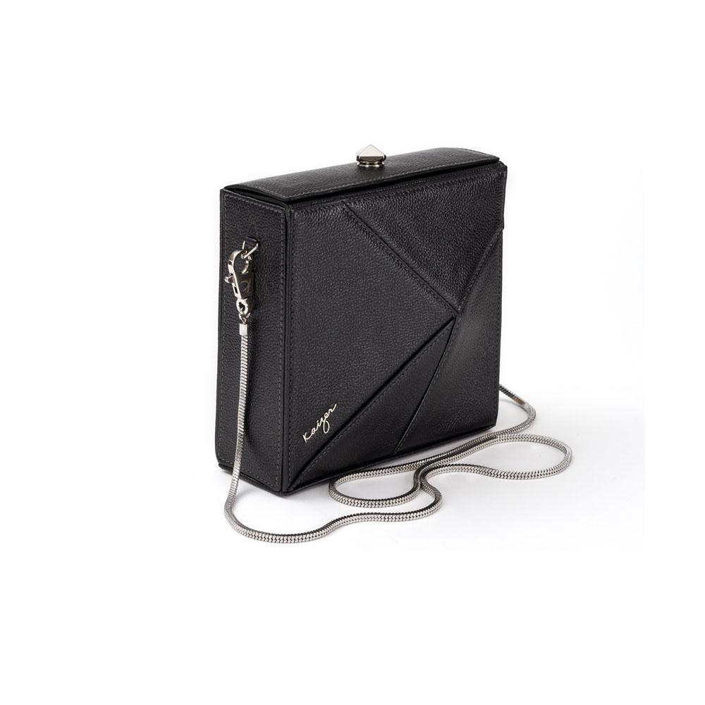Cosset Square Shoulder Bag, KZ2209BLK