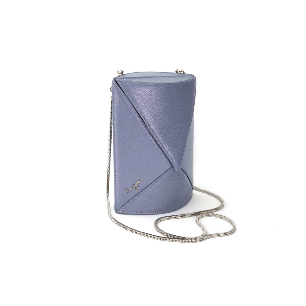 Cosset Oval Shoulder Bag, KZ2213GREY