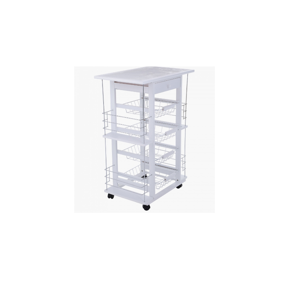 Home Centre Kitchen Trolley with Shelves and Drawer
