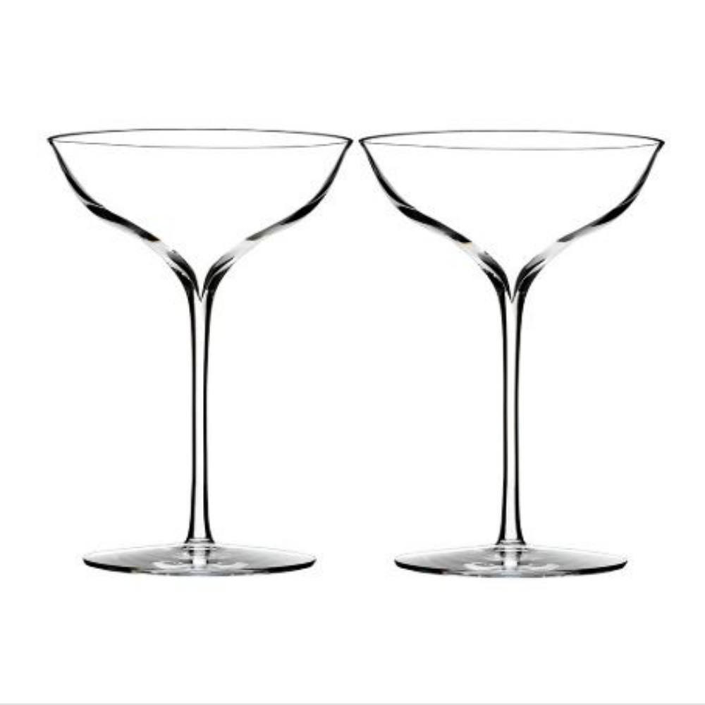 Waterford Set of 2 White Glasses