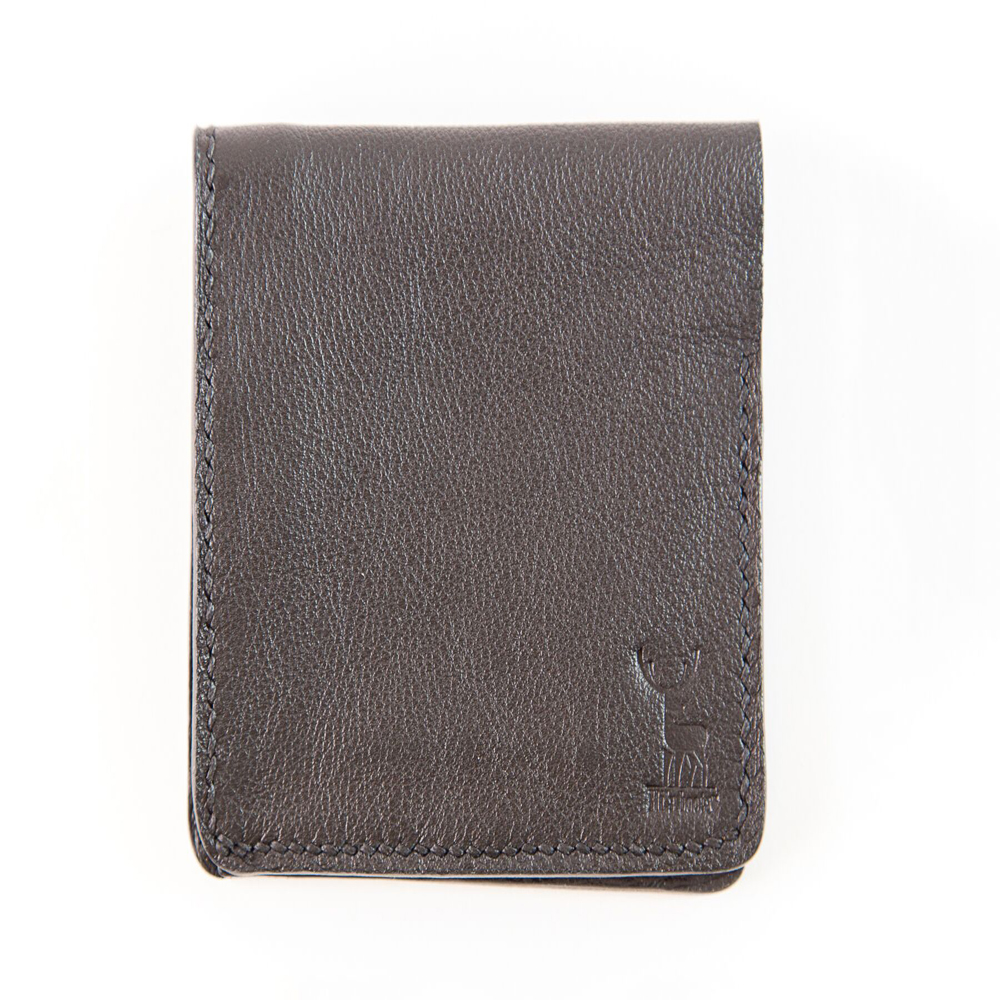 Wallet Black and Ostrich print
