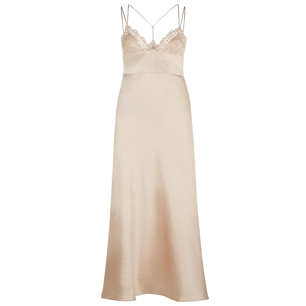 Petit Macrame Long Night Dress