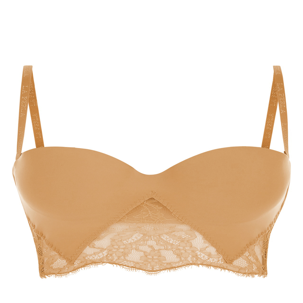 Lycra Strapless Brassiere With Chantilly Lace