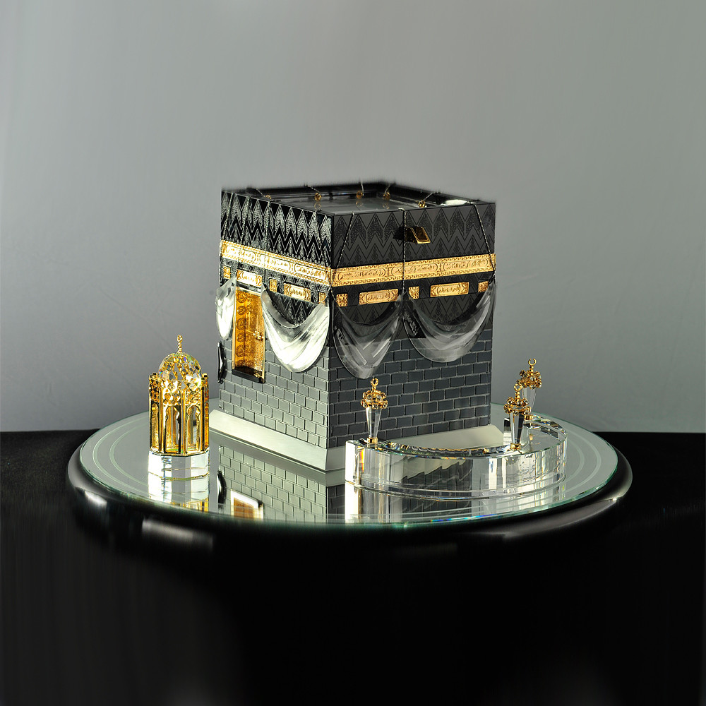 Asfour Crystal Maquette of Kaba with Round Base Decor