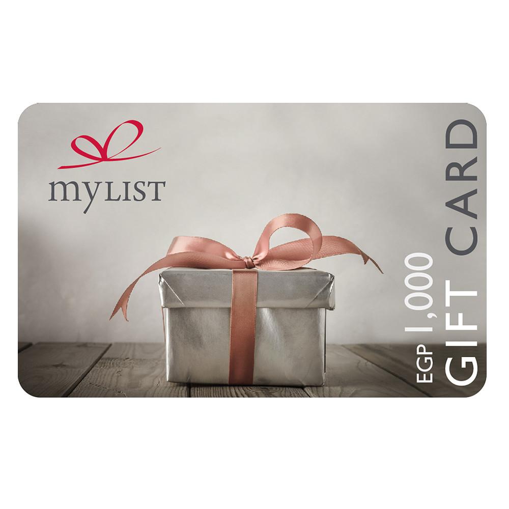 MyList Gift Card EGP 1,000