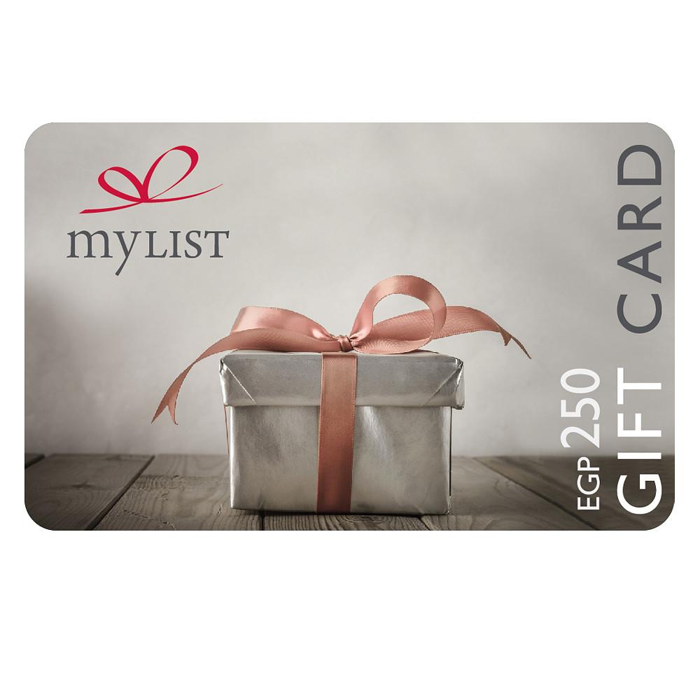 MyList Gift Card EGP 250