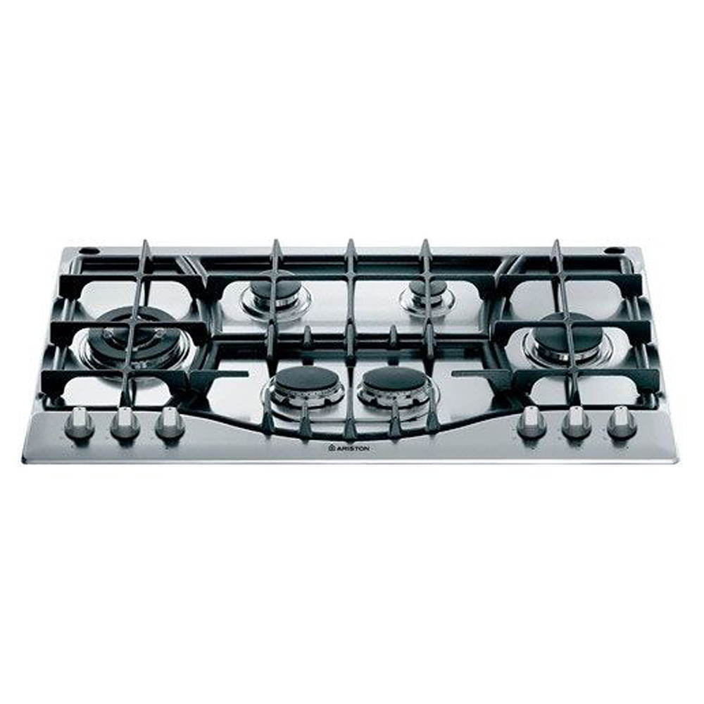 Ariston Built In Gas Hob Stainless Steel 6 Cooking Zones