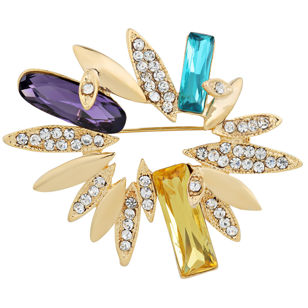 Asfour Crystal Sparkling Brooch